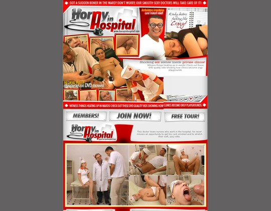 hornyinhospital.com